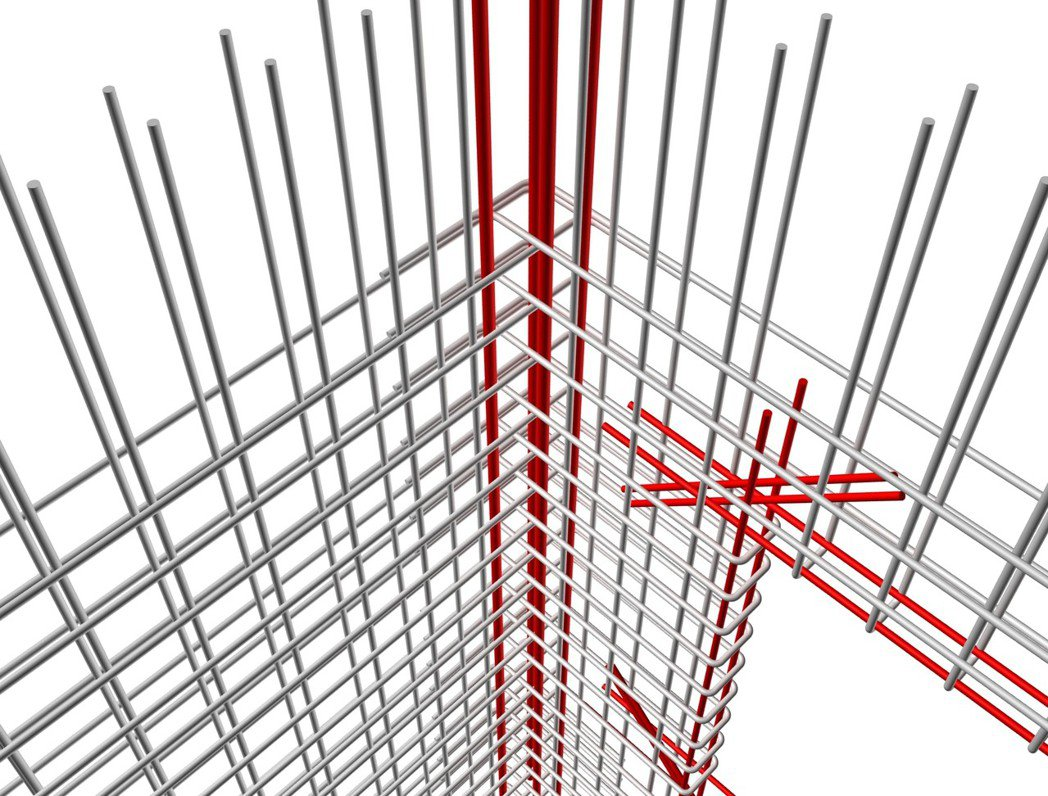 ■牆轉角3D示意圖。