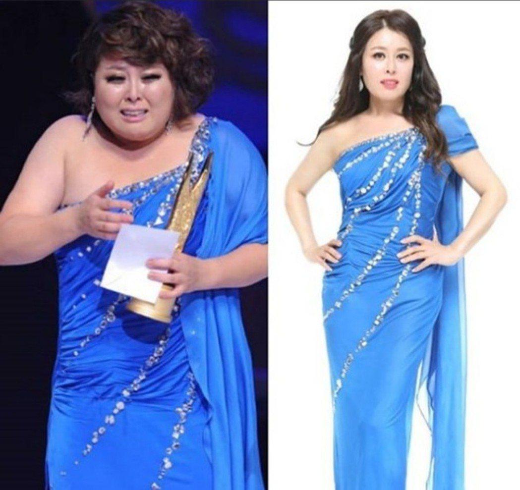 洪智敏穿同一件洋裝但差很大。圖/摘自IG