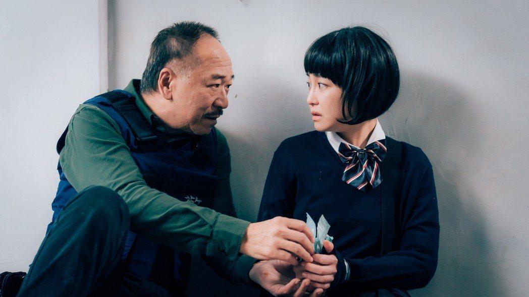 謝欣穎(右)、傅雷首次合作,互動自然。圖/歐銻銻娛樂提供