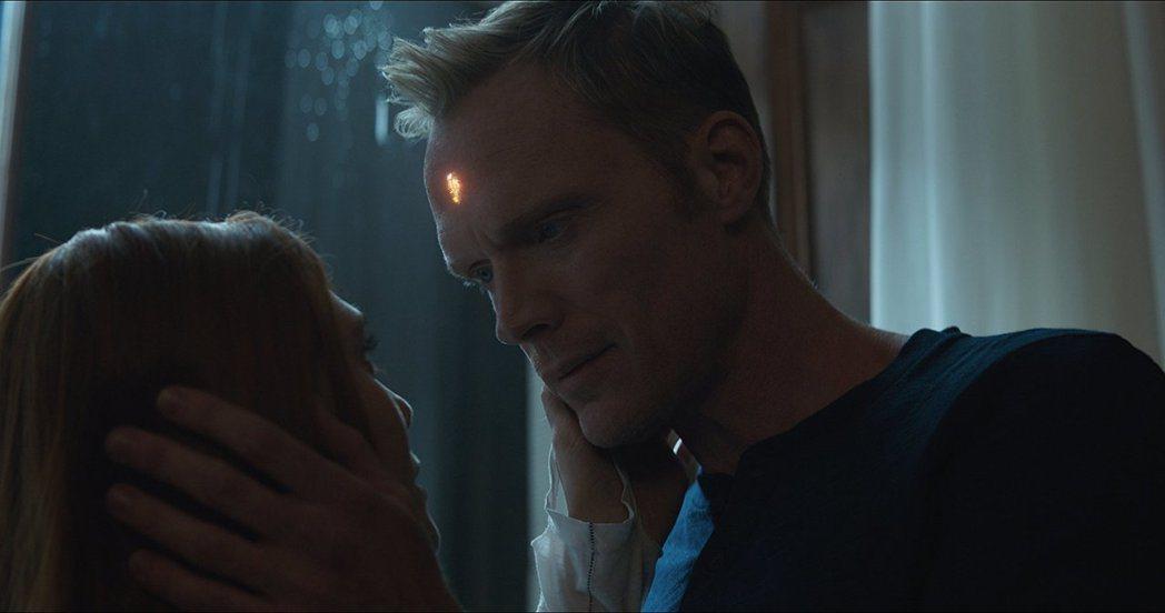 幻視與緋紅女巫的戀情為「復仇者聯盟:無限之戰」增加動人氣氛。圖/摘自imdb