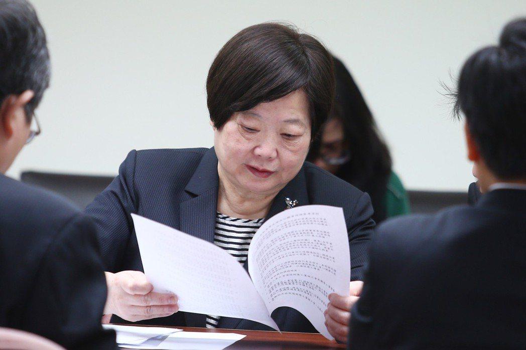 勞基法修法公聽會,前勞動部長林美珠列席。 圖/聯合報系資料照片