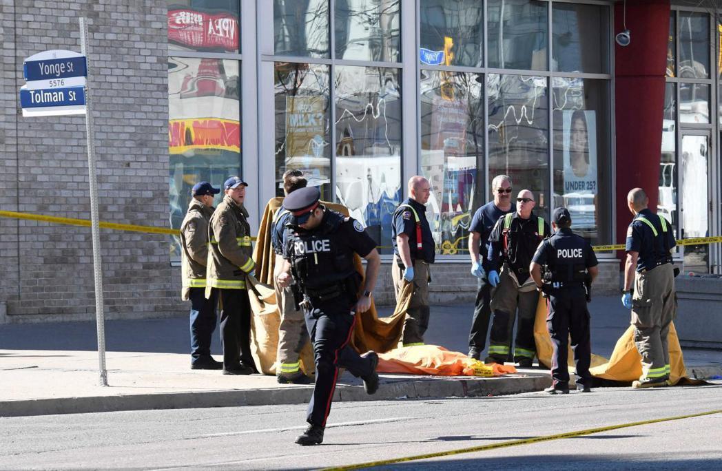 多倫多衝撞案造成數10人死傷。路透