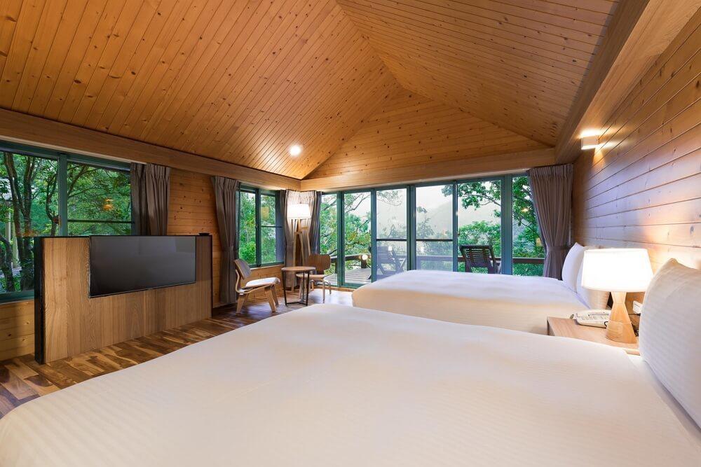 棲蘭山莊溫馨家庭房。圖/力麗觀光 提供