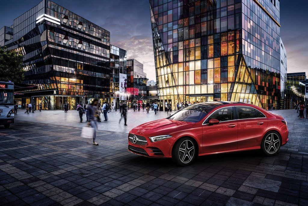 圖為Mercedes-Benz A-Class L Sedan。 摘自Merce...