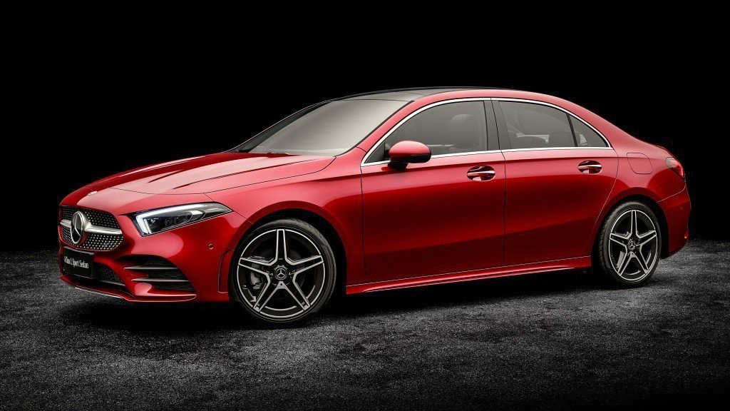 Mercedes-Benz A-Class L Sedan軸距來到2,789mm。 摘自Mercedes-Benz