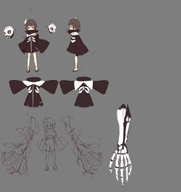 餓者骷髏的設定稿/擷自《炎姬》粉絲專頁。