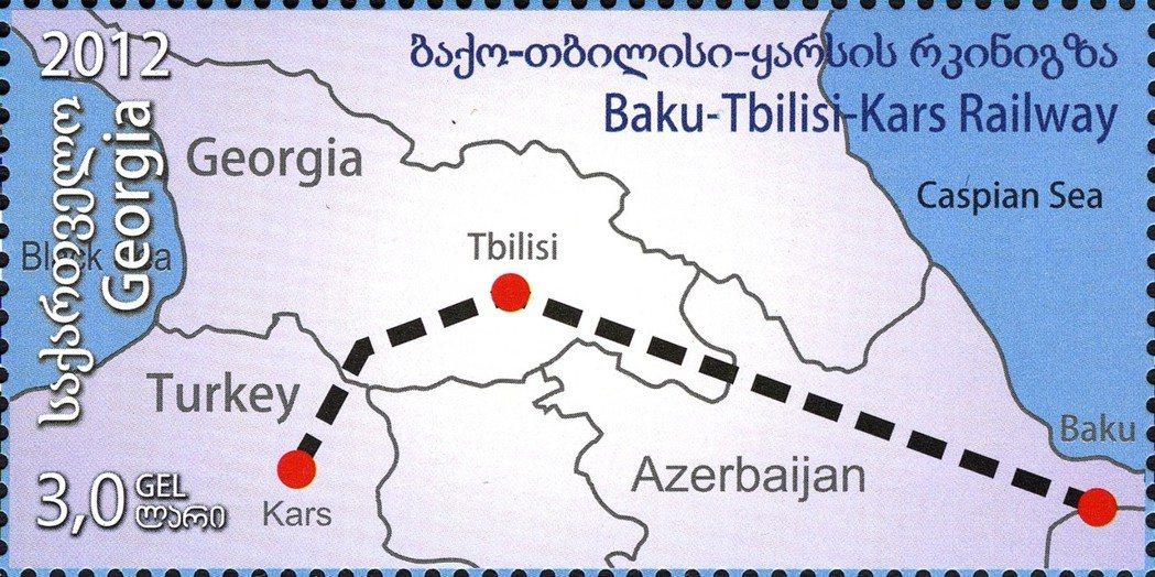 B、T、K三個字母,分別代表著三個城市,各自屬於鐵路經過的三個國家。 圖/維基共...