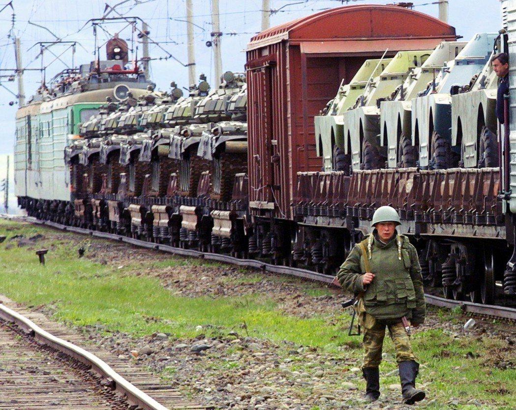 阿哈爾卡拉奇車站是高加索的交通要衝,過去蘇聯紅軍曾在屯駐重兵。 圖/法新社