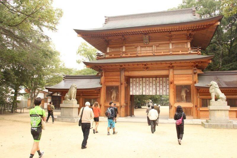 ▲聽說大山祗神社是全日本的總社,趕快誠心的祈求一下。 (photo by 蔡克辰...
