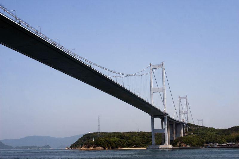 ▲由渡輪上觀賞大橋,更是壯觀。 (photo by 達叔)