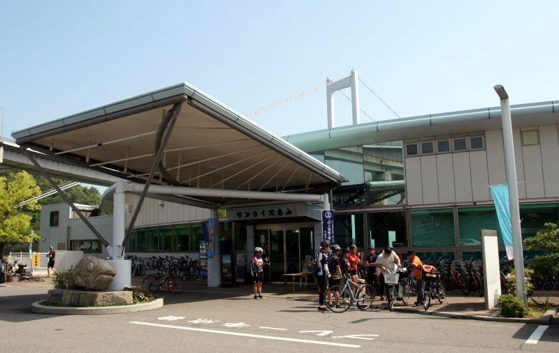 ▲糸山公園中的來島海峽展望館。 (photo by 達叔)