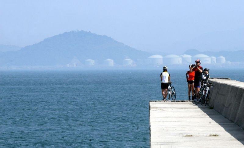 ▲瀨戶內海中的星羅棋布的島嶼,各有各的風情。 (photo by 達叔)