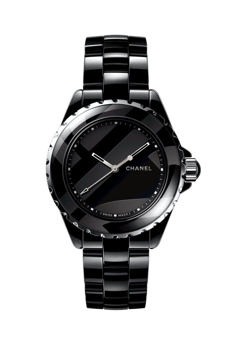 香奈兒J12 Untitled腕表,黑色高科技精密陶瓷搭配精鋼,黑漆裝飾,限量1...