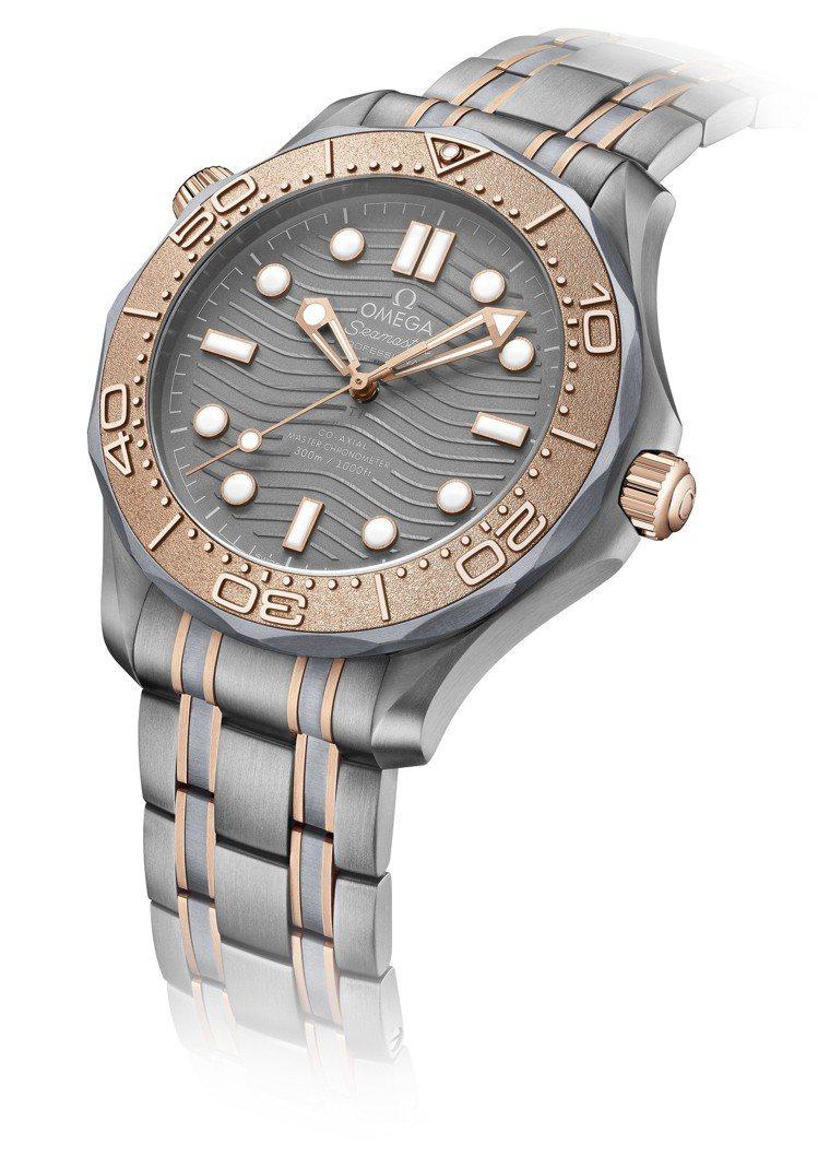 歐米茄海馬DIVER 300M系列鈦鉭合金限量腕表,42毫米鈦與鉭合金材質、88...