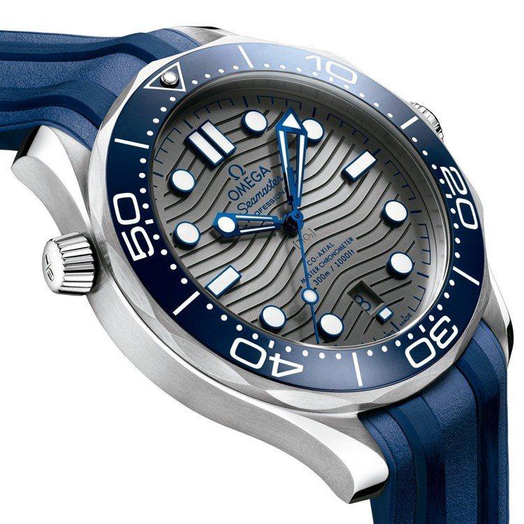 歐米茄海馬DIVER 300M系列橡膠帶腕表,42毫米精鋼表殼、8800 Co-...