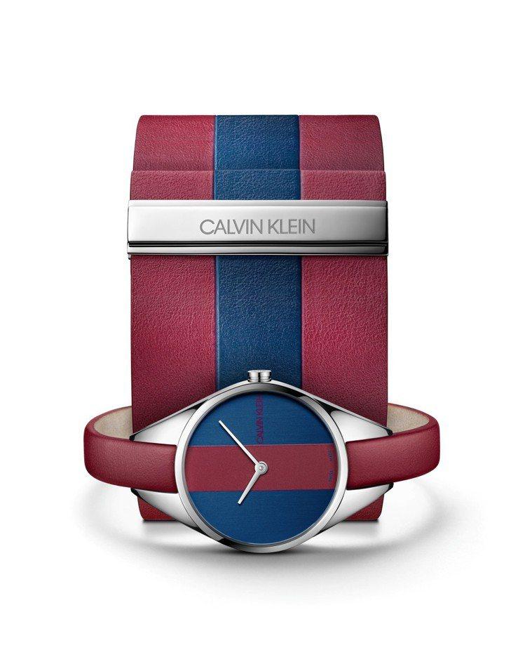 CALVIN KLEIN Rebel叛逆系列腕表,不鏽鋼表殼,約6,800元。圖...
