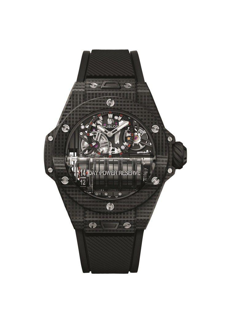 宇舶Big Bang MP-11腕表,首創立體碳纖維表殼,搭載具14天動力儲存的...