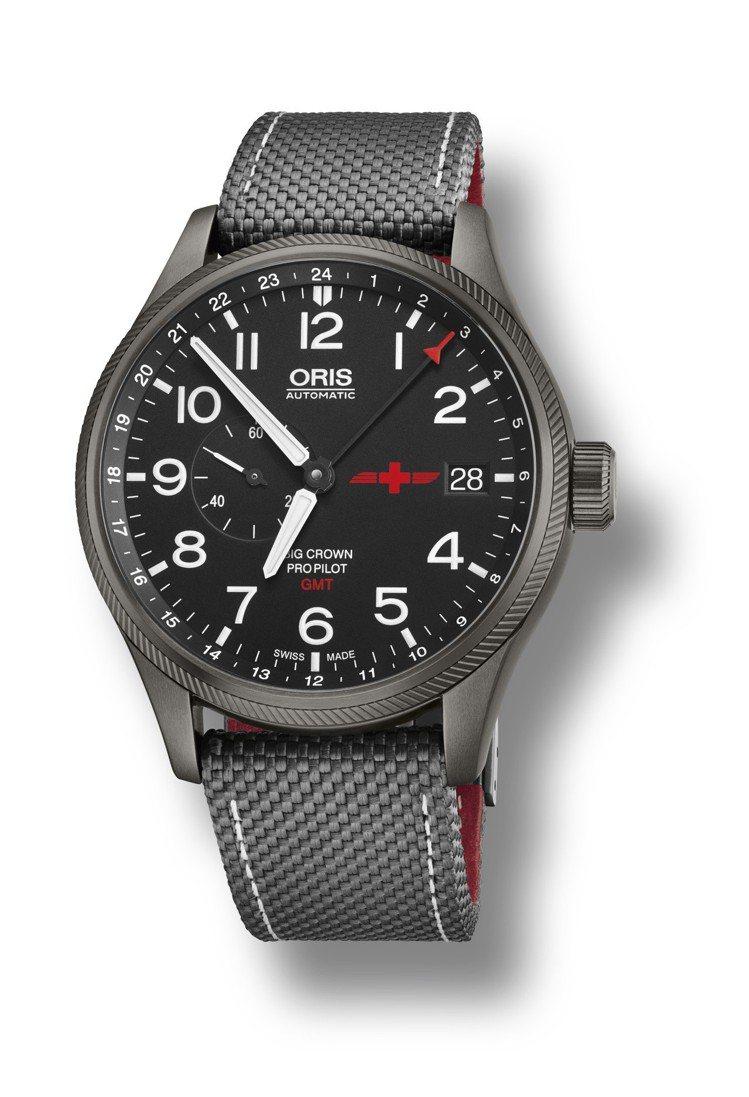 Oris GMT Rega雙時區腕表,槍灰色PVD不鏽鋼表殼,限量2,000只,...