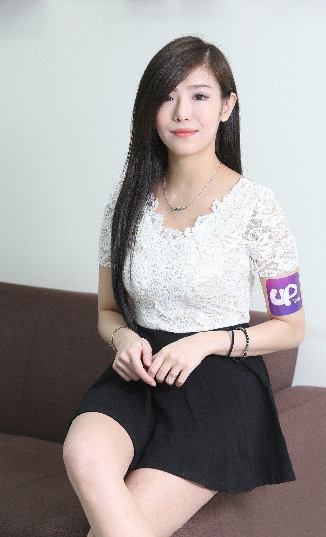 專訪UP直播主Mi。記者陳柏亨/攝影
