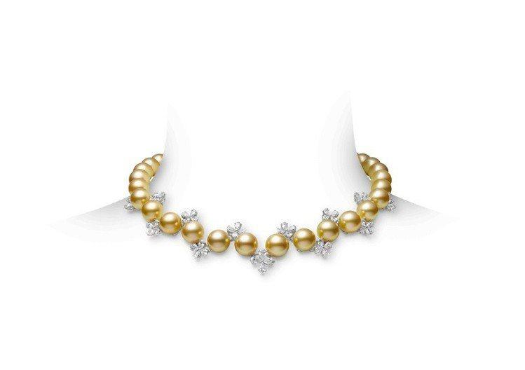MIKIMOTO Praise to Nature頂級珠寶系列南洋黃金珠鑽石項鍊...