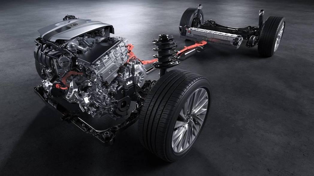 THS II油電系統,電池放於後座下方。 摘自Lexus