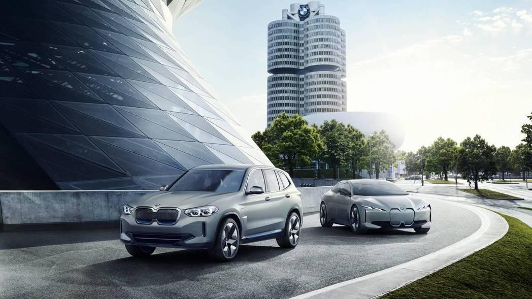 圖左為BMW Concept iX3,圖右為BMW i Vision Dynam...