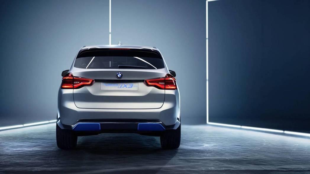 量產版iX3最大續航距離約可達到439公里。圖為BMW Concept iX3。...