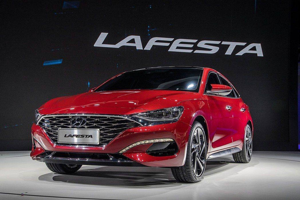 圖為中國限定的Hyundai Lafesta。 摘自Hyundai
