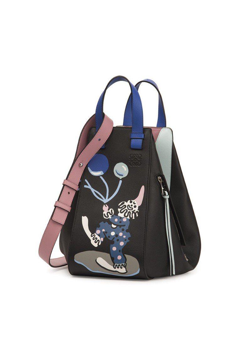 LOEWE Paulas Ibiza Hammock黑色手提包,售價11萬4,0...