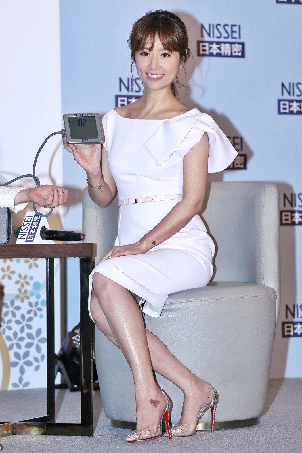 藝人林心如出席NISSEI日本精密活動,發表擔任2018年度品牌守護大使,並分享...