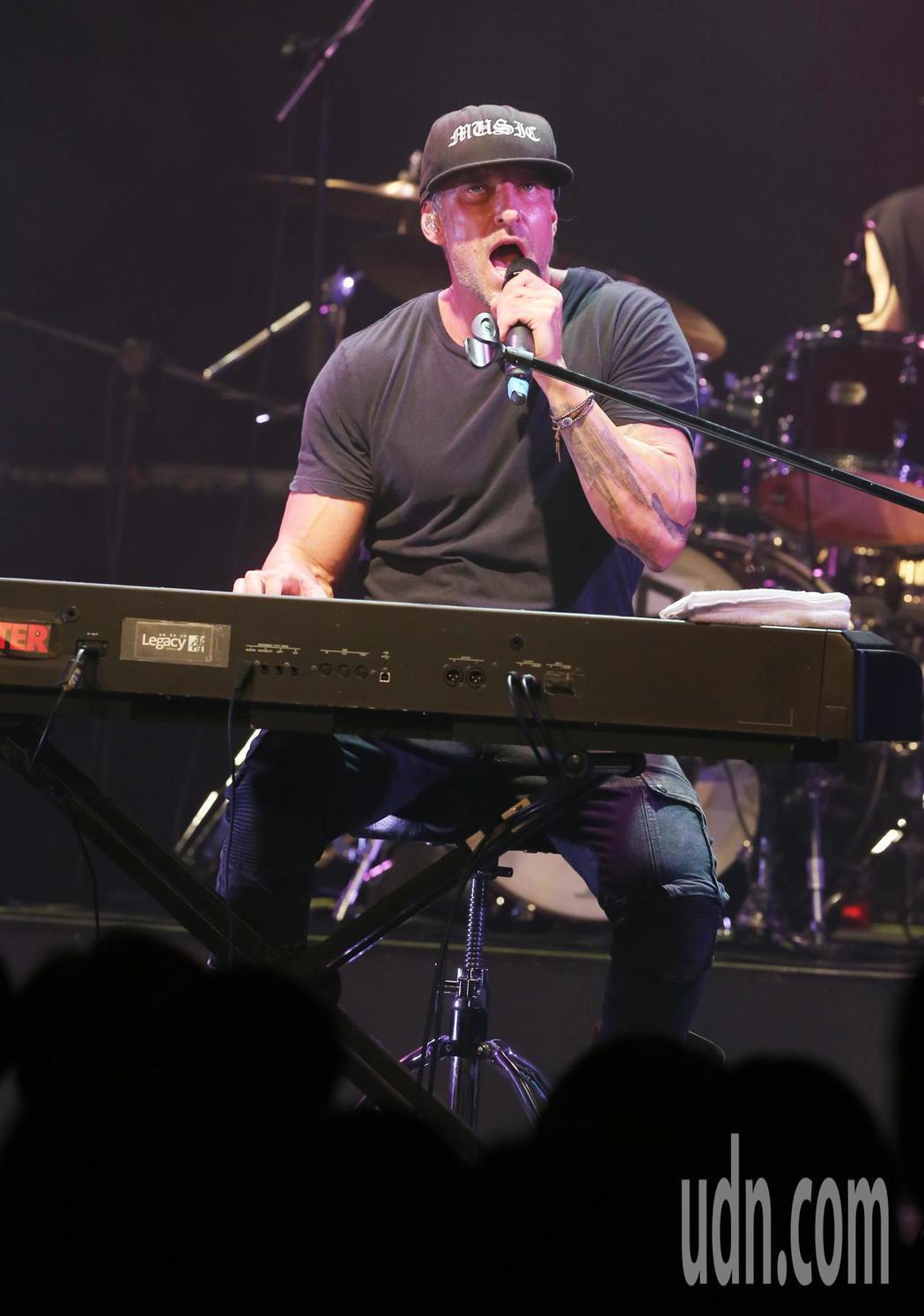 丹尼爾今晚在台北華山文創園區的Legacy舉辦演唱會。記者徐兆玄/攝影