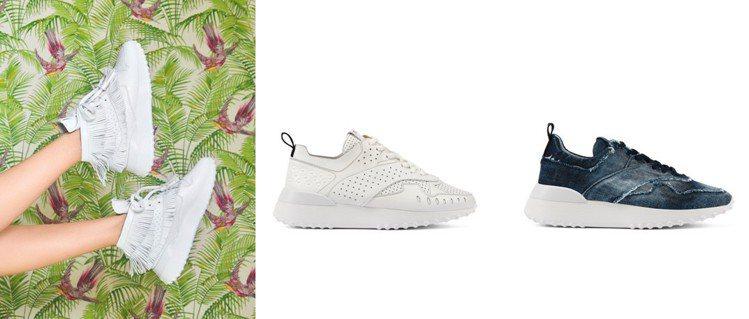 TOD'S春夏休閒鞋,採用EVA超輕量鞋底材質,更加輕盈舒適。
