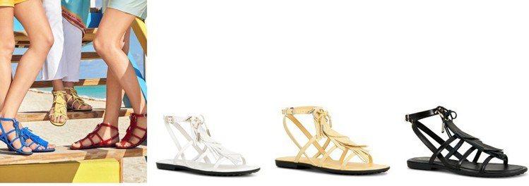 今年夏季絕不可缺少的一款鞋:TOD'S Logo裝飾繞帶涼鞋。 圖/TOD'S ...