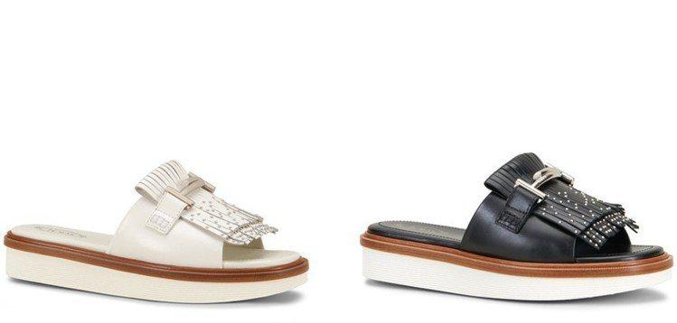 TOD'S流蘇裝飾厚底鬆糕涼鞋,造型時髦,穿著舒適。 圖/TOD'S 提供