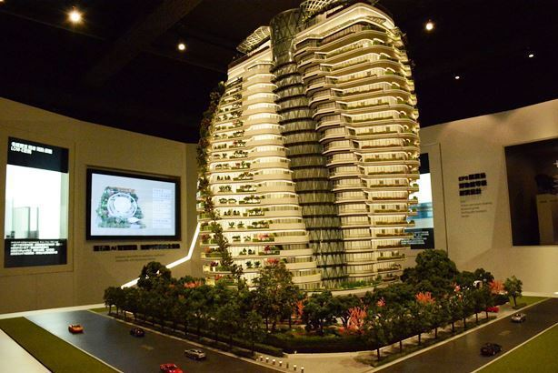 「陶朱隱園」建築模型/聯合報系資料照