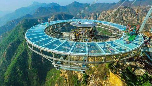 北京石林峽的玻璃觀景平台。 圖/摘自網路