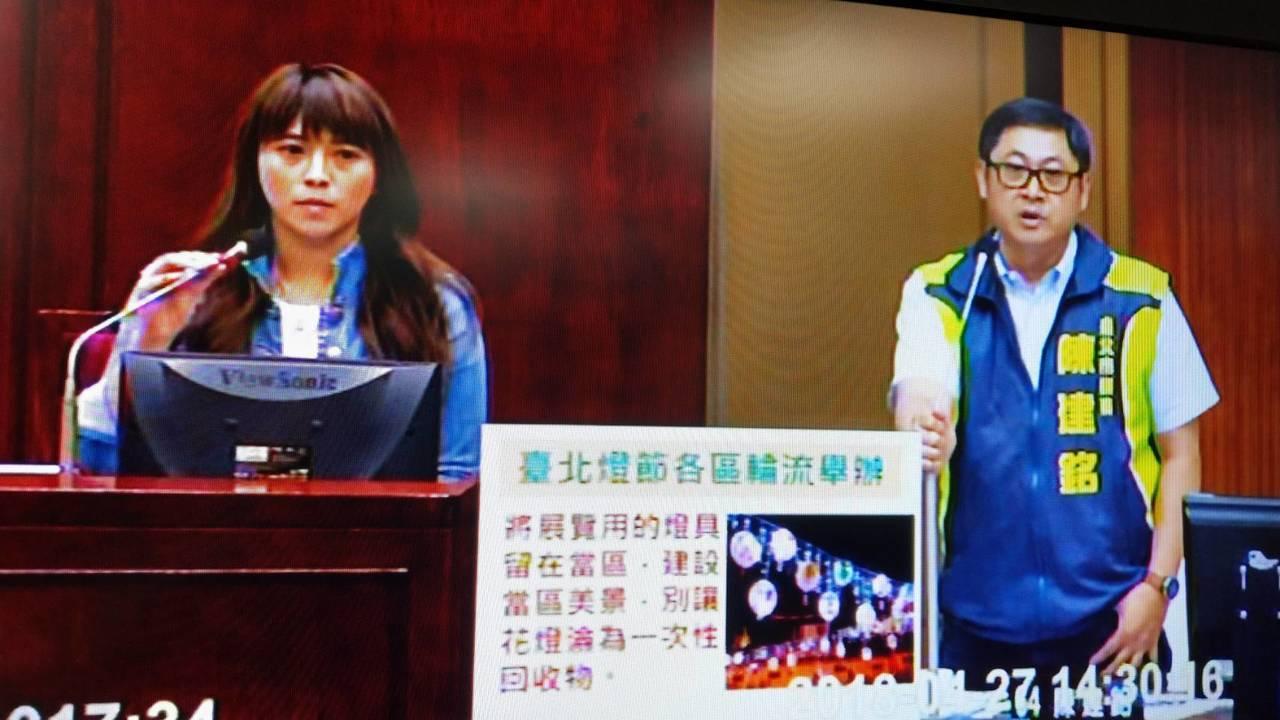 台北市議會今日舉行教育部門質詢,父女檔的爸爸議員陳建銘,直接點名女兒觀光傳播局長...