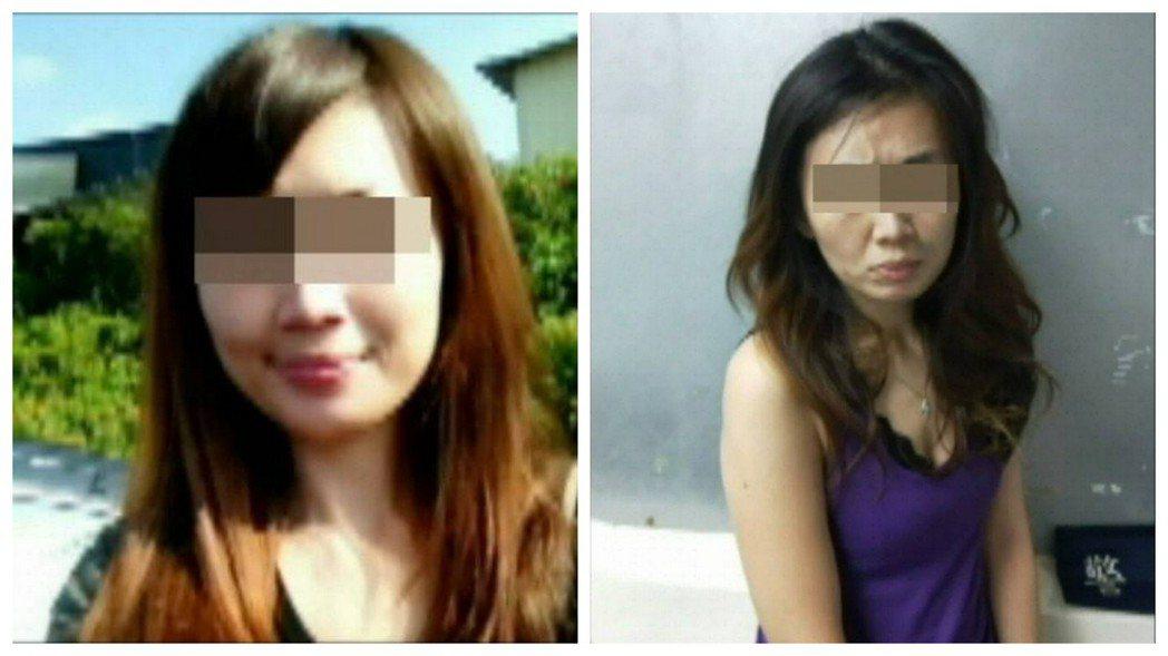 林女染毒前(左)模樣清新陽光,因朋友而接觸毒品後,外貌變得蒼老(右)。 記者劉星...