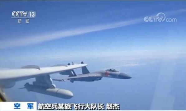 中共空軍飛官說,升空即是作戰,掛的都是實彈。圖/截自央視