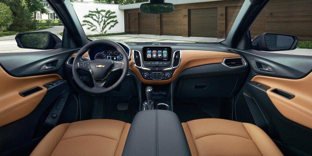 Chevrolet Equinox 內裝。 摘自Chevrolet