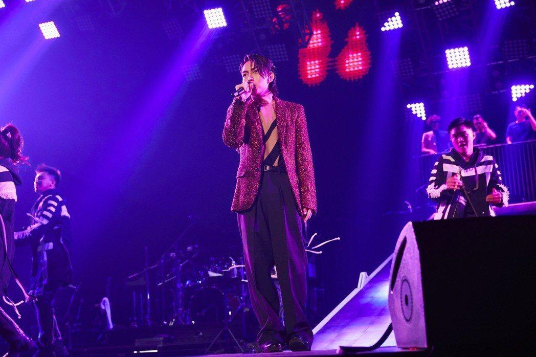 林宥嘉28日在高雄巨蛋開唱。圖/華研提供