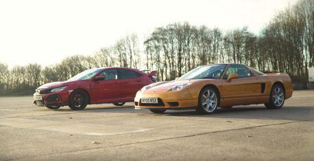 (影片)當現代遇上經典!第一代NSX遇上最新Civic Type R
