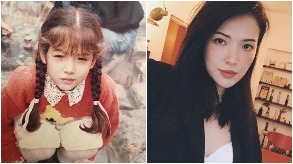許瑋甯秀出自己的童年照。圖/摘自IG