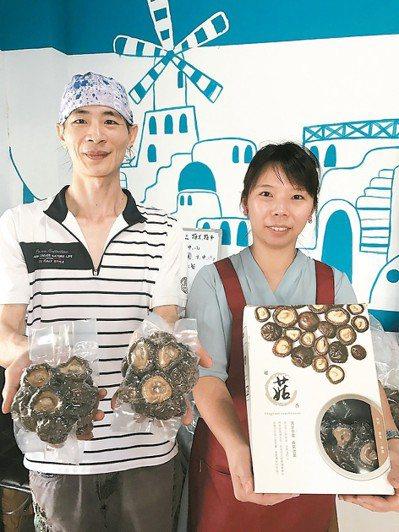新社青年菇農呂建旭夫妻種出頂級有機菇,還自創品牌,研發小真空包,專攻高單價通路。...