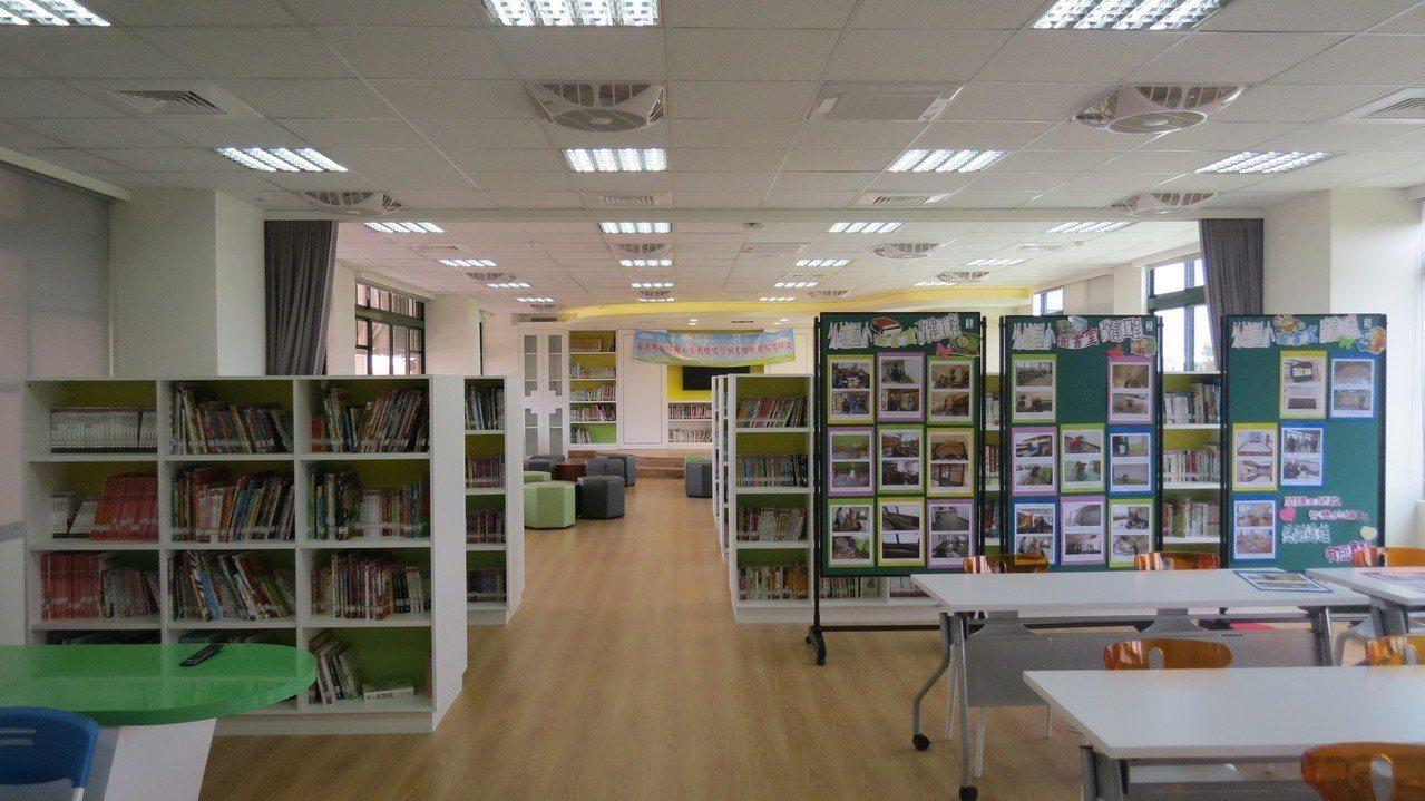 外埔國小趙萬枝紀念圖書館重修啟用,營造溫馨與閱讀樂趣的環境。 記者范榮達/攝影