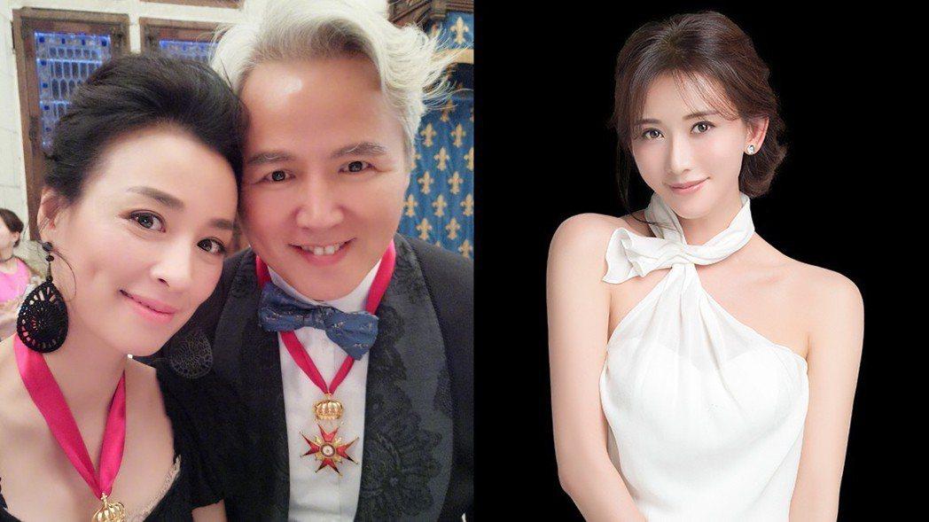 林志玲擔任張庭品牌代言人。 圖/擷自微博、達爾威提供