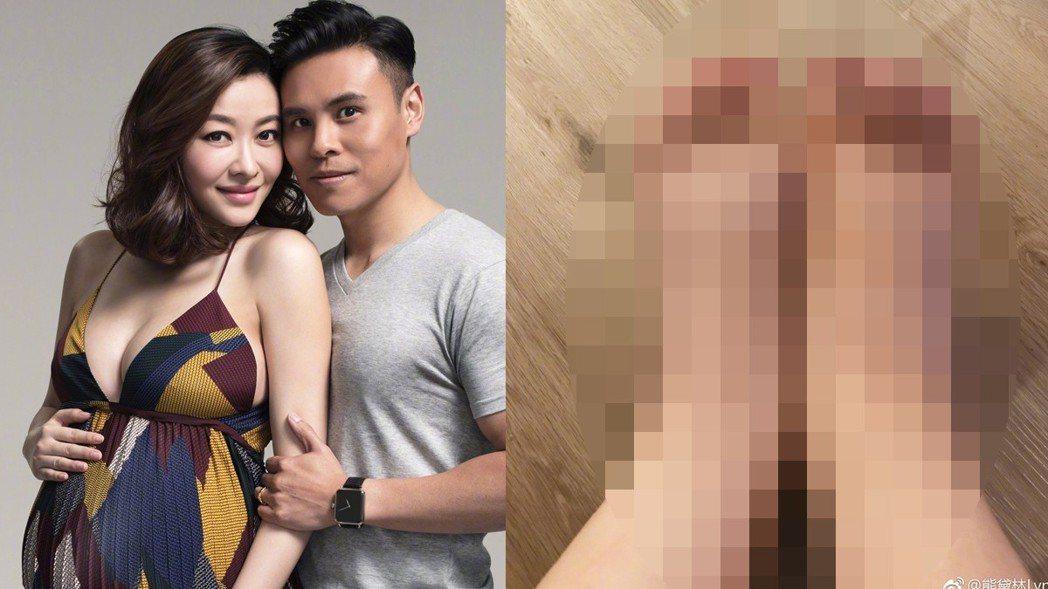 37歲女星熊黛林日前於香港剖腹產下一對雙胞胎女兒。 圖/擷自微博。