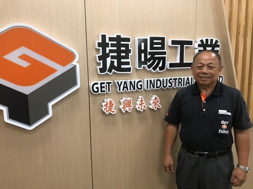 捷暘工業董事長詹德興。 張傑/攝影