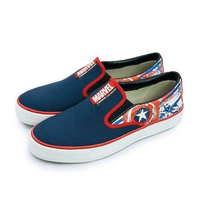 原價1,080元的MARVEL 漫威 休閒時尚帆布鞋 復仇者聯盟系列 深藍紅,即...