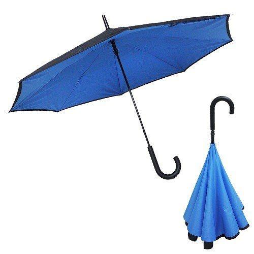 原價2,980元的【Kasan】雙層傘面上收式防風反向雨傘-3入(共3色任選),...